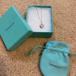 Tiffany & Co. 925 Heart charm and chain.